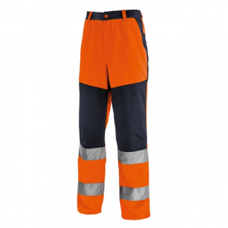 teXXor Warnschutz Bundhose - Orange/Marine