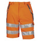 pka Warnschutz Shorts Orange/Grau